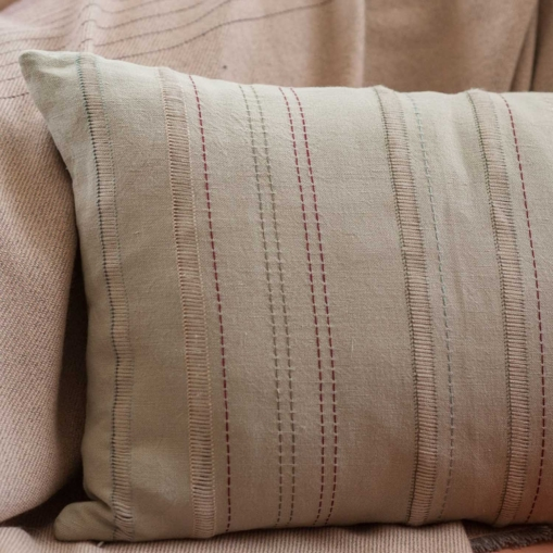mrslovegood benedetta hand embroidered linen cushion