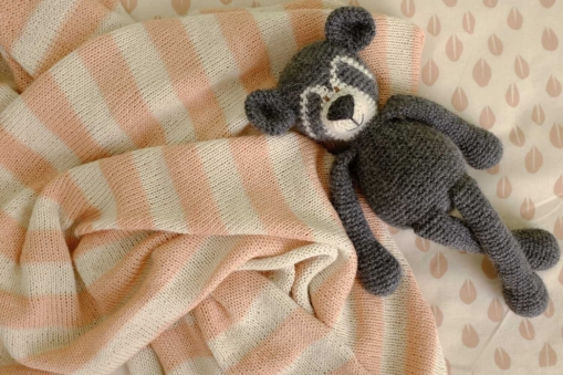 mrslovegood spectacled bear handmade baby alpaca baby toy charcoal2